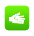 hand with stains icon digital green vector image