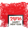 Happy New Year 2016 and christmas background vector image vector image