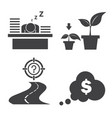 hard work for target icon set vector image vector image