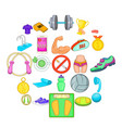 hotiron icons set cartoon style vector image vector image