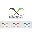 infinity logo and symbol template icons app vector image vector image