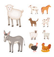 isolated object of farm and food logo collection vector image