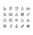 laboratory line icons chemical and medical vector image