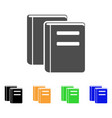 library books flat icon vector image vector image
