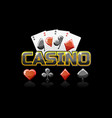 logo text casino and icon for ui game vector image vector image