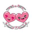 love heart couple cartoon vector image vector image