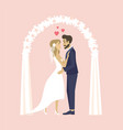 man and woman on engagement party wedding people vector image vector image