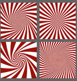 Maroon and white spiral and burst background set vector image vector image