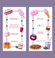 menu for sweet blueberry dessert icon poster and vector image vector image