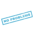 No Problems Rubber Stamp vector image vector image