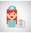 nurse cartoon kit first aid design vector image vector image