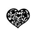 Ornamental vintage heart vector image vector image