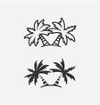 palm trees icons vector image
