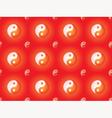 pattern with yin yang symbols vector image vector image