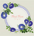 pea-flowers vector image vector image