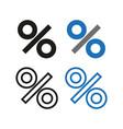 percent icon simple vector image vector image