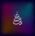 pictograph of christmas tree vector image vector image
