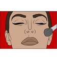 pop art makeup closeup of sexy girl vector image vector image