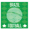Poster for the World Cup in Brazil vector image