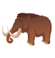 prehistoric mammoth with long tusks vector image