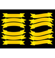 Ribbon Banner Gold vector image vector image