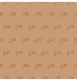 Seamless croissant pattern food vector image