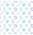 Seamless pattern with contour diamonds Blue and vector image vector image