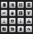 Set of 16 editable cleanup icons includes symbols