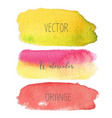 set of colorful brush strokes watercolor vector image vector image