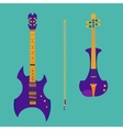 Set of string instruments Purple electric violin vector image