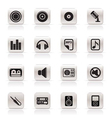 Simple music and sound icons vector | Price: 1 Credit (USD $1)