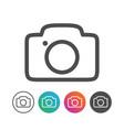 simple outline camera icon symbol design set vector image