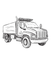 Sketch of small truck vector image