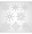 Snowflakes falling shadow vector image vector image