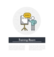 Training Room Icon vector image vector image