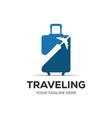 travel logo holidays tourism business trip vector image