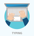 typing vector image vector image