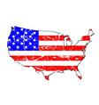 usa grunge flag map vector image vector image
