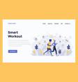 web design flat modern concept - smart workout vector image