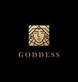 woman goddess logo icon vector image vector image