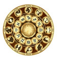 zodiac signs medallions vector image vector image