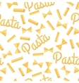 Pasta Seamless Pattern Isolated on White vector image