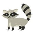 Funny cartoon raccoon mascot vector image