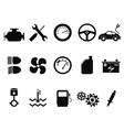 car engine icons set vector image