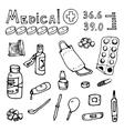 medical topics vector image