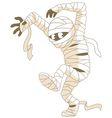 mummy on halloween vector image