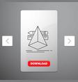 3d design designer sketch tools line icon in vector image