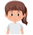 a isolated girl character vector image vector image