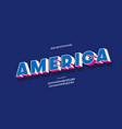 america alphabet 3d color style