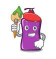 artist shampo character cartoon style vector image vector image